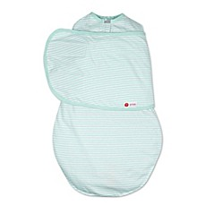 image of Embe® Stripe Classic 2-Way Swaddle™ in Mint