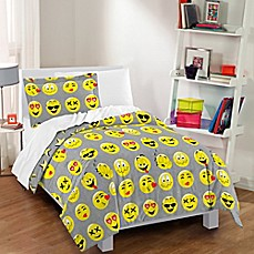 image of Dream Factory Emoji Reversible Comforter Set