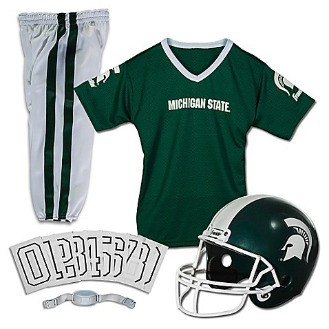 Buy Michigan State University Size Medium Youth Deluxe Uniform Set From Bed Bath Beyond
