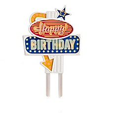 image of Flashing Happy Birthday Cake Topper