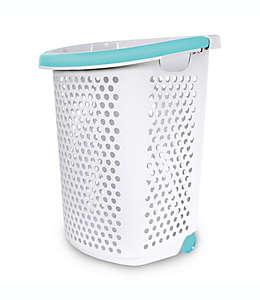 Cesto con ruedas para ropa sucia de polipropileno Home Logic color blanco