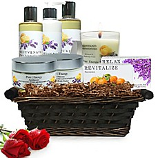 image of Pure Energy Apothecary Premium Spa ll Pure Aromatherapy Gift Set with Basket