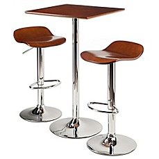 image of winsome kallie 3piece pub table set in