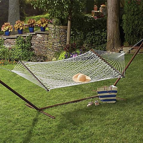 Rope hammock bed bath beyond for Make a rope hammock