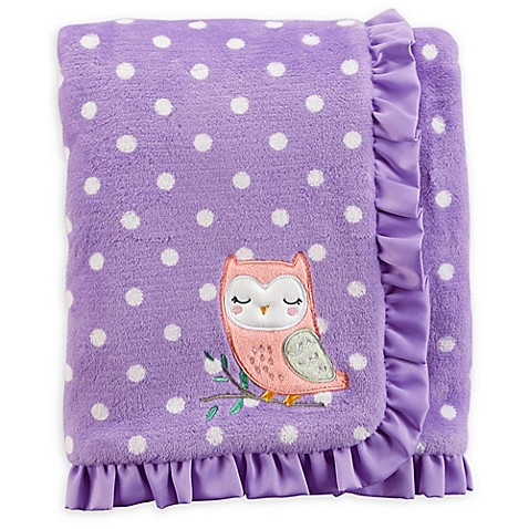 Carter S 174 Polka Dot Plush Blanket In Purple White Buybuy