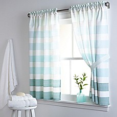 Image Of DKNY Highline Stripe 38 Inch X 45 Inch Cotton Bath Window Curtain