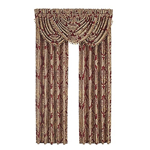 Buy J Queen New York Crimson 84 Inch Rod Pocket Window Curtain Panel Pair In Red From Bed Bath