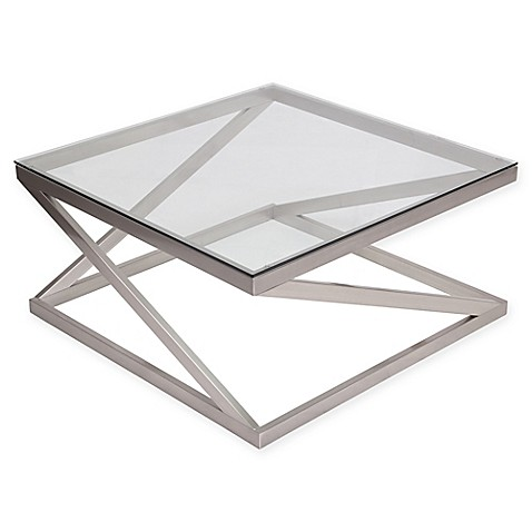 Flash Furniture Coylin Cocktail Table In Brushed Nickel Bed Bath - Flash furniture coffee table