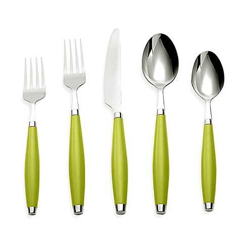 Fiesta® by Cambridge® 5-Piece Flatware Place Setting in Lemongrass