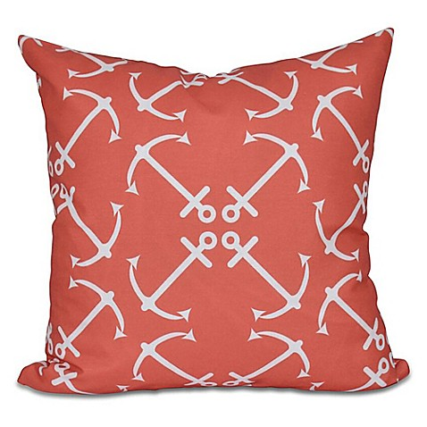 Buy Anchor S Up Geometric Print Square Throw Pillow In