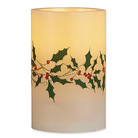 Buy Loft Living Poinsettia Flameless Led Pillar Candles
