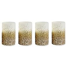 image of loft living flameless led pillar candles with timer set of 4 - Flameless Candles With Timer