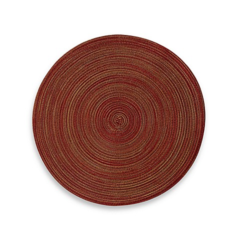 Martini Round Placemat in Burgundy