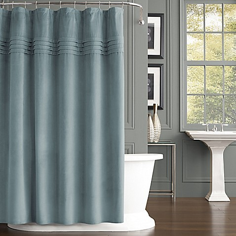 J Queen New York Estella Velvet Shower Curtain Bed Bath