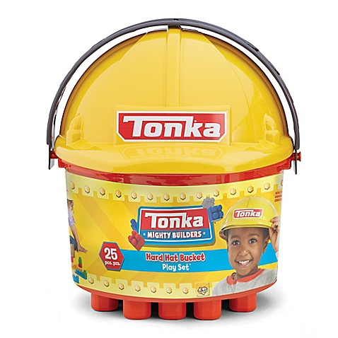 Tonka® 25-Piece Mighty Builders Hard Hat Bucket Play Set