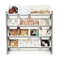image of Tot Tutors Toy Organizer in Grey/White