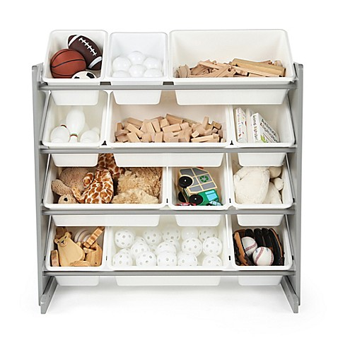 Buy Tot Tutors Toy Organizer In Grey White From Bed Bath