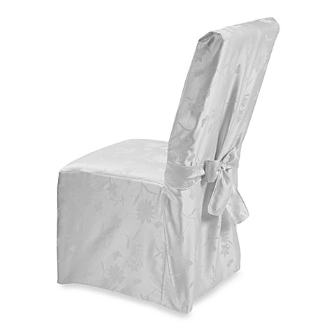 Spring Meadow Damask Dining Room Chair Cover White Bed