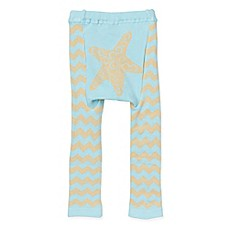 image of Doodle Pants® Chevron Starfish Leggings in Blue
