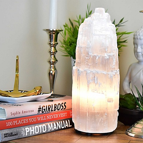 Natureu0026#39;s Artifacts Moroccan Medium Selenite Lamp