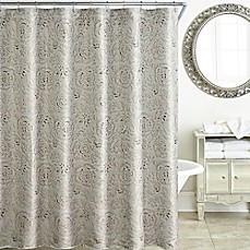Image Of Waterford Sophia 72 Inch X Shower Curtain In Platinum