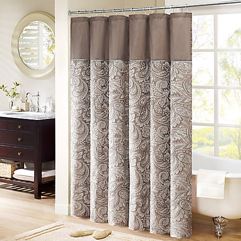 Attrayant Madison Park Aubrey Extra Long Shower Curtain