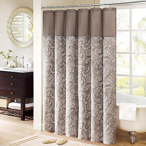 Superbe Madison Park Aubrey Extra Long Shower Curtain