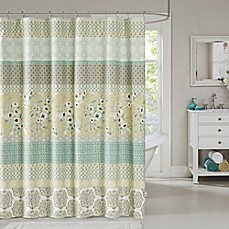 Periodic table of elements shower curtain bed bath beyond madison park willa shower curtain in green urtaz Choice Image