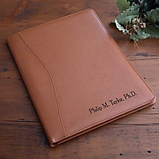 image of Executive 12.5-Inch Leather Portfolio in Tan