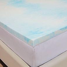 image of authentic comfort gel swirl 2inch memory foam mattress topper