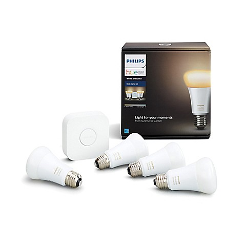 Philips hue white ambiance a19 lighting system 4 bulb - Philips hue starter kit ...