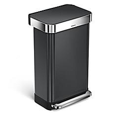 Merveilleux Image Of Simplehuman® 45 Liter Rectangular Liner Rim Step Trash Can With  Liner Pocket