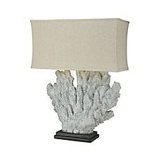 image of Dimond Lighting Sandy Neck Oversized Outdoor Table Lamp in Distressed Grey