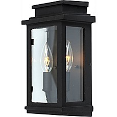 image of Artcraft Lighting® Freemont Wall-Mount Outdoor 2-Light 10.75-Inch Sconce in Black