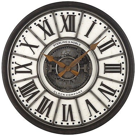 Sterling Amp Noble 29 Inch Industrial Gear Wall Clock Bed