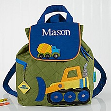 image of Construction Embroidered Kid's Backpack by Stephen Joseph