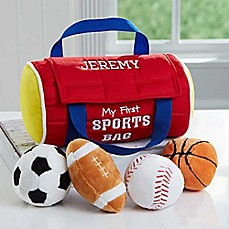 image of Embroidered My First Sports Bag by Baby Gund®