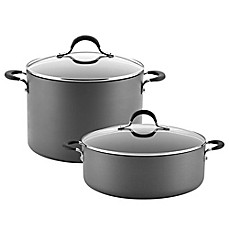 image of Circulon® Momentum™ Hard Anodized Nonstick Covered Stock Pot