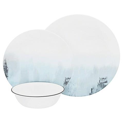Corelle\u0026reg; Tranquil Reflection 12-Piece Dinnerware Set  sc 1 st  Bed Bath \u0026 Beyond & Corelle® Tranquil Reflection 12-Piece Dinnerware Set - Bed Bath \u0026 Beyond