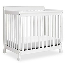 image of DaVinci Kalani 2-in1 Convertible Mini Crib in White