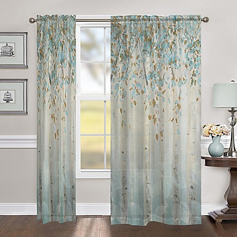 Laural Home Dream Forest 84 Inch Sheer Rod Pocket Window
