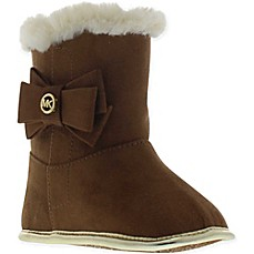 image of Michael Kors Fur-Trimmed Boot in Camel