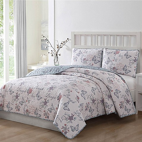 Live Laugh Love Reversible Quilt Set Bed Bath Amp Beyond
