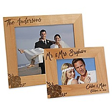 image of modern chic wedding engraved picture frame - Engraved Photo Frame