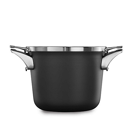 buy calphalon premier space saving hard anodized nonstick 4 5 qt covered soup pot from bed. Black Bedroom Furniture Sets. Home Design Ideas