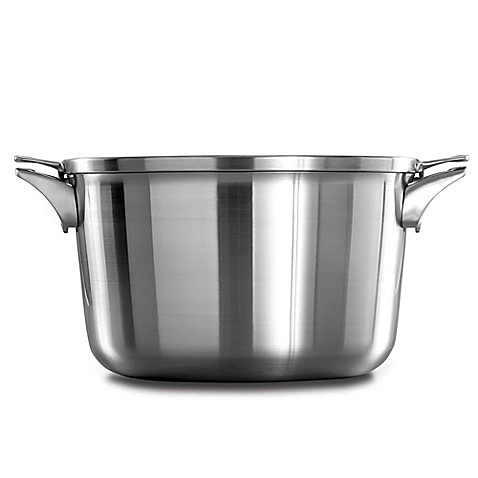 calphalon premier space saving stainless steel stock pot with lid bed bath beyond. Black Bedroom Furniture Sets. Home Design Ideas
