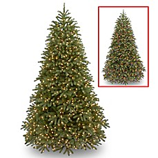 image of national tree company pre lit feel real jersey fraser fir artificial christmas tree - Artificial Christmas Trees