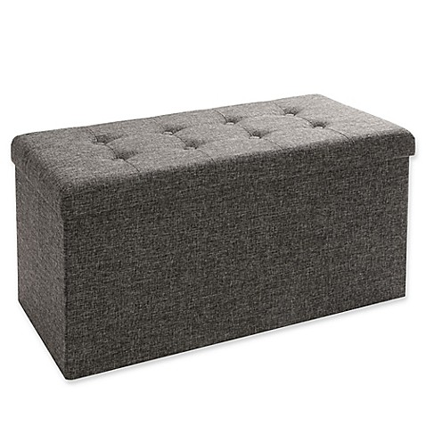 Seville Classics Foldable Storage Bench/Ottoman  sc 1 st  Bed Bath u0026 Beyond & Seville Classics Foldable Storage Bench/Ottoman - Bed Bath u0026 Beyond
