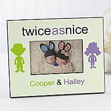 image of Double Trouble 4-Inch x 6-Inch Twin Picture Frame