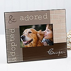 image of Adopted Pet 4-Inch x 6-Inch Picture Frame
